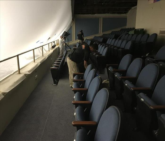 Damaged Auditorium Ceiling in Freehold, NJ After